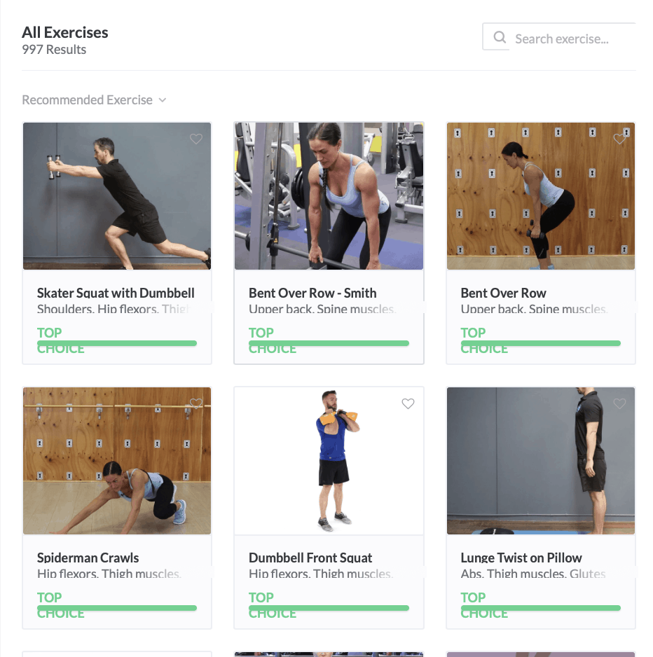 Exercise programs and videos